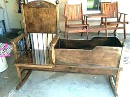 cradle rocking chair crib rocker plans baby antique for cradle rocking