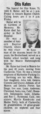 Obituary for Otis Kates (Aged 75) - Newspapers.com