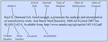 Journal Article Journals On The Internet Citing Medicine Ncbi Bookshelf