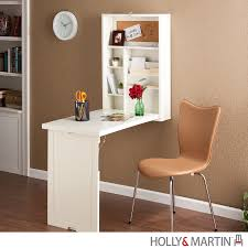 holly martin leo fold out convertible desk winter white