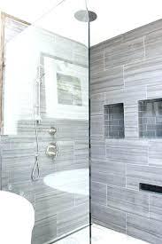 grey shower tile bathroom random tiled gray 2 dark floor curtain y94 shower