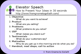 30 Sec Elevator Speech Elevator Speech How To Present Your Ideas In 30 Seconds From