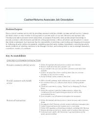 Cashier Resume Description Resume For Cashier Cashier Job Description For Resume Restaurant 93