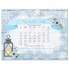 Winter Wedding Save The Date Boho Chic Rustic Winter Wedding Save The Date Calendar Post Card