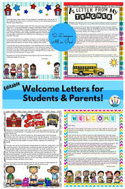 Welcome Back To School Letter Templates Back To School Letters Editable Welcome Letters For Students And