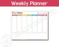 Weekly Printable Planner Use As A To Do List Menu Plan Meal Planning Water Tracker Exercise Log Notes And More