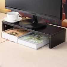 wood glass desktop monitor stand tv lcd laptop