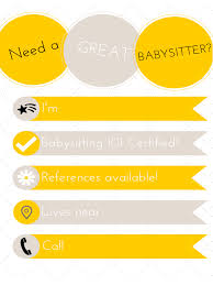 babysitting flyer templates in pdf word excel simple babysitting flyer