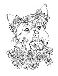 Show them the proper way how to color. Current Yorkie Coloring Pages Leslie Website