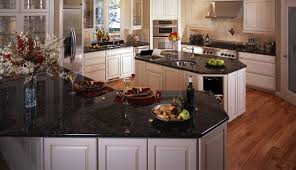 polished black granite countertops