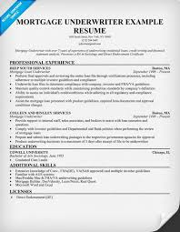 Mortgage Underwriter Resume Sample Mortgage Banker Resume Resume