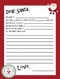 Santa Letter Templates Under Fontanacountryinn Com