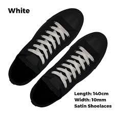 Shoelace Width Chart Satin Ribbon White Shoelaces Australia