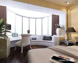 basement bedroom ideas no windows. Bedroom Windows Ideas Modern With Curved White Bay Window Bench Also Small Office Table And Basement No