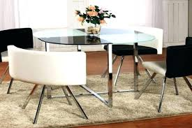 small glass dining table and 4 chairs glass kitchen tables dining rovigo small glass chrome dining