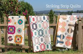 How to make a strip quilt: 16 striking ways (+ fabric giveaway ... & From-Striking-Strip-Quilts Adamdwight.com