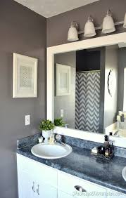 frame your bathroom mirror yourself. how to frame out that builder basic bathroom mirror (for $20 or less!) your yourself h