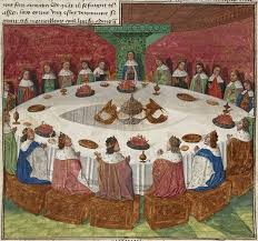 king arthur s knights gathered at the round table by Évrard d espinques