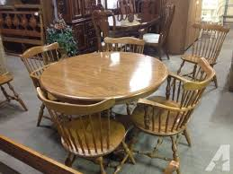 ethan allen maple dining table chairs 399