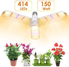 Daylight Full Spectrum Folding Craft Light Lvjing 150w Led Grow Light Bulb With 414 Leds Foldable Sunlike Full Spectrum Grow Lights For Indoor Plants Vegetables Greenhouse Hydroponic