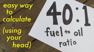Two Cycle Oil Chart 40 1 Fuel To Oil Ratio Easy Way To Calculate