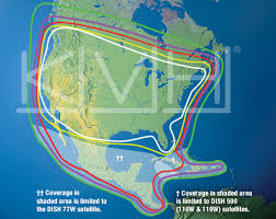 Directv Azimuth And Elevation Chart Kvh United States Latin American Coverage Dish Network