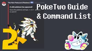 PokeTwo Guide & Commands List | Pokemon Discord Bot – Sir TapTap
