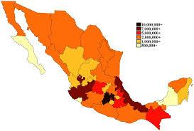 población de los estados de méxico