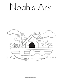 Noah S Ark Coloring Page Twisty Noodle