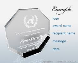 Personalization Advise For Crystal Awards Crystal Trophies