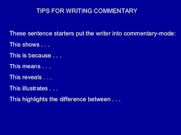 how to write a good commentary lessons teach algernon paper structure