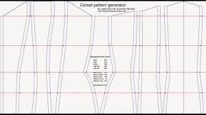 Corset Pattern Amazing Larger Than Life Corset Pattern Generator 4848
