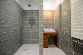 tile brick pattern bathroom