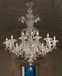 large clear glass rezzonico murano chandelier l7099k12 chrome finish