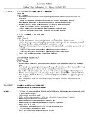 Integration Technician Resume Samples Velvet Jobs