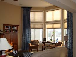how to hang curtains in bay window furniture toobe8 blue modern that can add the elegant nuance inside
