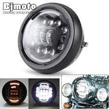BJMOTO Động Cơ Ô Tô Xe Máy Đèn Pha LED Đa Năng 7.5 Inch Đầu Tròn Đèn 5W Ánh  Sáng Ban Ngày Cho Chiến Thắng Honda Yamaha Suzuki 