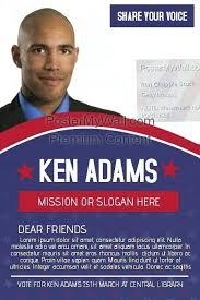Political Brochure Template Election Design Free Campaign