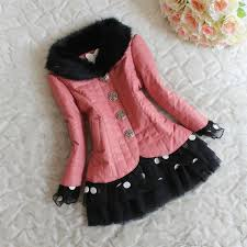 girls fur coat fashion collars kids winter dresses children grid leather jacket han edition outwear cute lace dresses for party dress gdw024 girls winter
