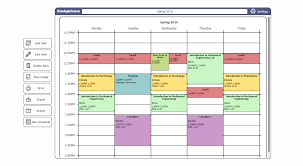 Schedule Table Maker Free College Schedule Maker