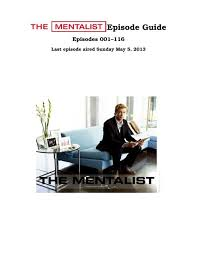 The Mentalist Episode Guide - inaf iasf bologna