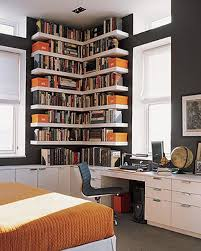 Corner Book Shelving