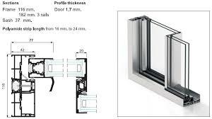 aluminium doors commercial and