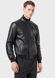 nappa leather er with padding and logoed collar