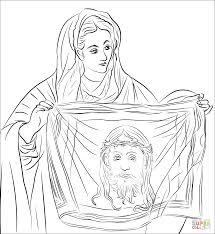 Heilige Veronica Kleurplaat Gratis Kleurplaten Printen