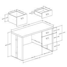 Standard Office Desk Sizes 1500 Trend Home Design 1500