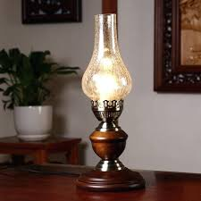 Lantern Table Lamps Classic Retro Kerosene Lamp Glass Desk Reading Style