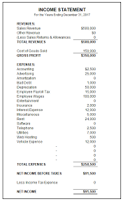financial statement format sample income statement free income statement template