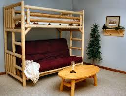 Log Furniture Bedroom Sets Twin Over Futon Bunk Bed Unfinished Lakeland Mills