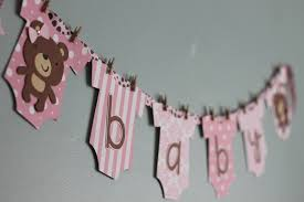 Baby Shower Banner Teddy Bear Baby Shower Banner Pink And Brown Girl Teddy Bear